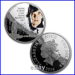 2016 Niue Silver $2 Sherlock Colorized 2 Coin Set PF70 UC ER 2 NGC Coins