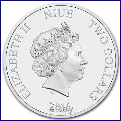 2016 Niue Silver $2 Star Wars BB-8 PF70 UC ER NGC Coin RARE