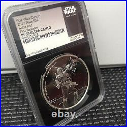 2016 Niue Star Wars Boba Fett NGC PF 69 Ultra Cameo First Releases