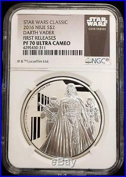 2016 Niue Star Wars Darth Vader $2 1 oz Proof Silver Coin NGC PF 70 Ultra Cameo