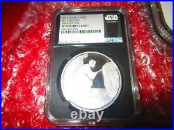 2016 Niue Star Wars PRINCESS LEIA R2D2.999 Silver 1 oz coin NGC PF PR 70 Carrie