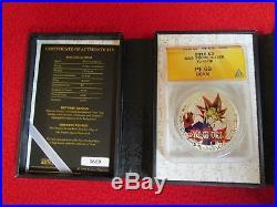 2016 Niue Yu Gi Oh. 999 Silver Coins Seto Kaiba & Yami Yugi ANACS ngc PF69 POP 1