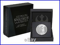 2016 STAR WARS CLASSICS Princess Leia Organa 1oz SILVER COIN