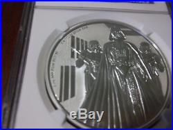 2016 Star Wars DARTH VADER 1oz Silver Niue Coin PF70 Ultra Cameo 1st Release