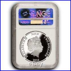 2016 Star Wars Yoda NGC PF70 ER NIUE 1 oz Proof Silver Coin