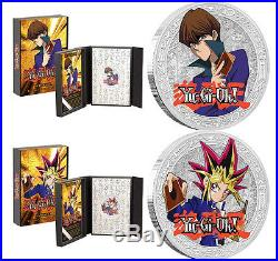 2016 Yu-Gi-Oh! Silver Coin Yami Yugi AND Seto Kaiba 1 OZ Silver Proof Coins