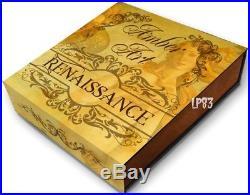 2017 2 Oz Silver $5 RENAISSANCE AMBER ART Coin, NIUE