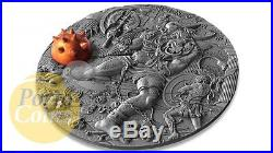 2017 2 Oz Silver MINOTAUR Ancient Myths Coin 5$ Niue Box & COA RARE