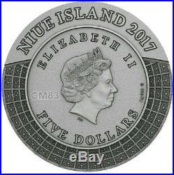 2017 2 Oz Silver ZEUS GODS OF OLYMPUS Silver Coin, 5$ Niue Island