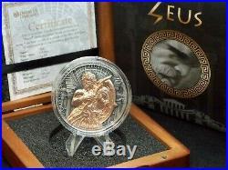 2017 $5 Niue ZEUS GODS OF OLYMPUS 2 Oz. Silver Coin Box & COA ECC&C, Inc