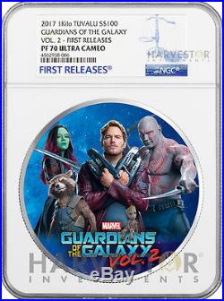 2017 Guardians Of The Galaxy 1 Kilo Silver Coin Ngc Pf70 First Releases