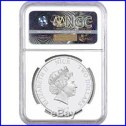 2017 Moana & Maui Niue NGC PF70 First Day Of Issue Proof Silver Coin