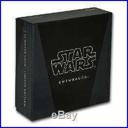 2017 Niue 1 oz Silver $2 Star Wars Chewbacca Proof (withBox & COA) SKU #150556