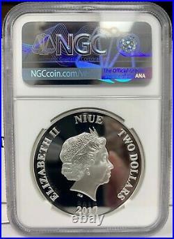 2017 Niue $2 Disney Bambi 75th Ann. 1 oz Silver Proof Coin NGC PF 70 UCAM