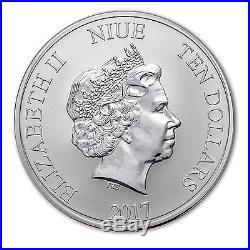 2017 Niue 5 oz Silver $10 Hawksbill Turtle BU SKU #117519