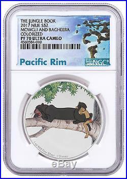 2017 Niue Disney Jungle book Bagheera & Mowgli 1 oz Silver NGC PF70 UC SKU48498