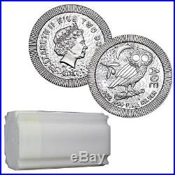 2017 Niue Stackable Athenian Owl 1 oz Silver Coin Lot of 20 In Sealed Tube