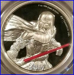 2017 Niue Star Wars Darth Vader 2oz. 999 Fine Silver Bullion PCGS PR69DCAM