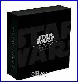 2017 Niue Star Wars Han Solo Carbonite Ultra High Relief 2 oz. 999 Silver Coin