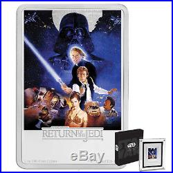 2017 Niue Star Wars Poster Collection Return of the Jedi 1oz Proof Silver Coin