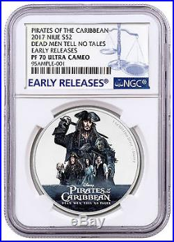 2017 Pirates Caribbean Dead Men Tell No Tales 1 oz. Silver NGC PF70 ER SKU47303