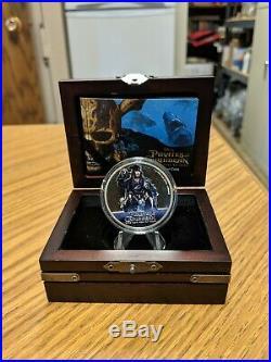 2017 Pirates Of The Caribbean Silver Coin Niue With Orginal Box, Chest & Coa