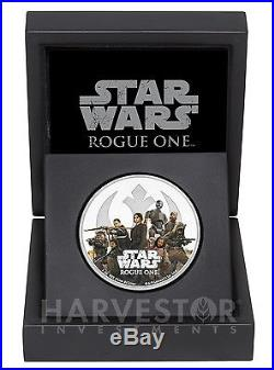 2017 Star Wars Rogue One 2-coin Set Empire & Rebel Alliance All Ogp & Coa