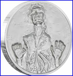 2017 Star Wars Darth Vader AND Han Solo Ultra High Relief 2 oz Silver Coins