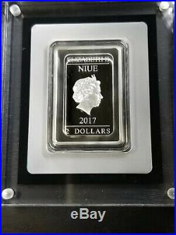 2017 Star Wars Poster Coin 1ounce 40th anniversary proof bar silver