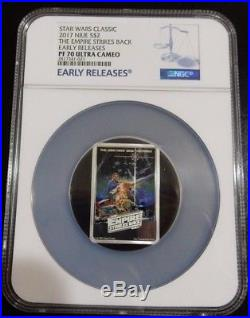 2017 Star Wars The Empire Strikes Back Poster Coin Early Releases Ngc Pf70
