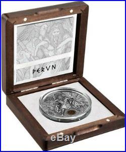 2018 2 Oz Silver Niue $2 PERUN Thunder Slavic Gods Coin