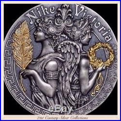 2018 2 Oz Silver VICTORIA AND NIKE Goddesses Coin