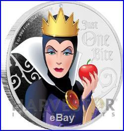 2018 Disney Villains Evil Queen 1 Oz. Silver Coin Ogp Coa 1st In Series