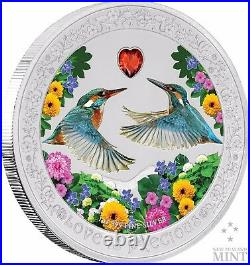 2018 Love Is Precious Silver Coin Kingfishers 1 oz Gift Present