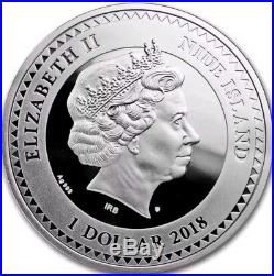 2018 Niue $1 THE KISS Gustav Klimt Golden Five Silver Coin