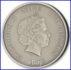 2018 Niue 1 oz. 999 Silver Coin $2 Jurassic Park 25th Anniversary T-Rex Claire