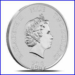 2018 Niue $2 Disney SCROOGE McDUCK 1 Oz Silver Sealed Mint Roll of 25