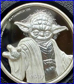 2018 Niue 2 oz Silver $5 Star Wars Yoda Ultra High Relief Coin