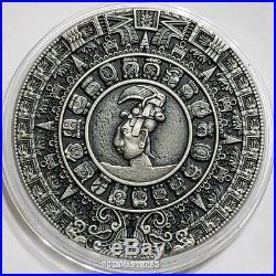 2018 Niue $5 Ancient Calendars MAYAN CALENDAR 2 Oz Silver Coin