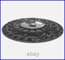 2018 Niue $5 MAYAN CALENDAR Archeology Symbolism 2oz. 999 Silver Coin, Box & COA