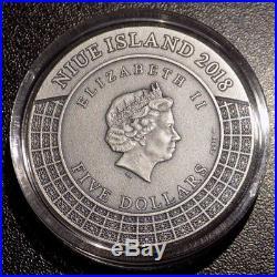 2018 Niue 5 NZD Hades Gods of Olympus 2 oz. 999 fine silver coin limited edition