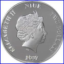 2018 Niue Disney Pinocchio 1 oz. 999 Fine Silver $2 Proof Coin
