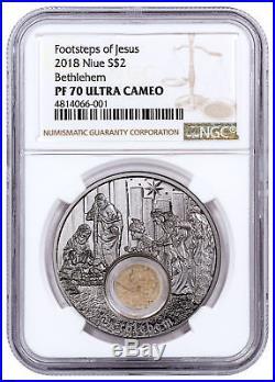2018 Niue In Footsteps of Jesus Bethlehem 1 oz. Silver $2 NGC PF70 UC SKU53381