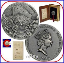 2018 Niue Noah's Dove 2 oz Silver Coin with COA & packaging - Biblical Series