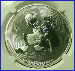 2018 Niue S$2 Disney SCROOGE McDUCK Silver Coin NGC MS70 FIRST DAY OF ISSUE