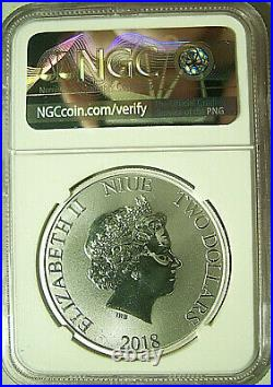 2018 Niue S$2 Disney SCROOGE McDUCK Silver NGC MS70 FIRST DAY OF ISSUE POP 60