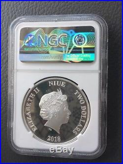 2018 SILVER STAR WARS CLASSIC DARTH MAUL NGC PF70 FIRST RELEASES 12th Coin