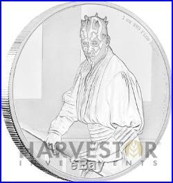 2018 Star Wars Classics Darth Maul 1 Oz. Silver Coin With Ogp Coa 12th