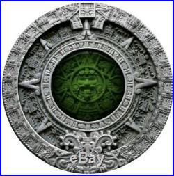 2019 2 Oz Silver $2 Niue AZTEC CALENDAR Antique Finish Coin