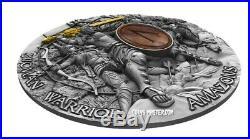 2019 2 Oz Silver $5 Niue AMAZONS Woman Warrior High Relief Coin